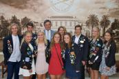 Scandinavian Students with Consuls for Finland Ross Norgard and Sweden Lisa Jahrsten